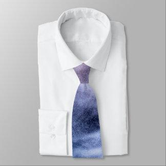 Cravate Nuages merveilleux d'abrégé sur pourpre bleu blanc