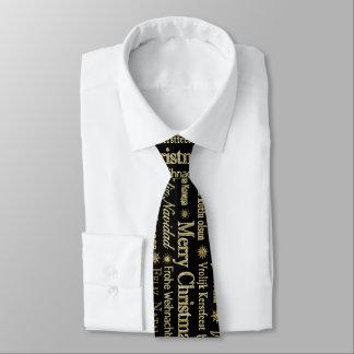 Cravate Or et Noël de noir Joyeux dans beaucoup de langues
