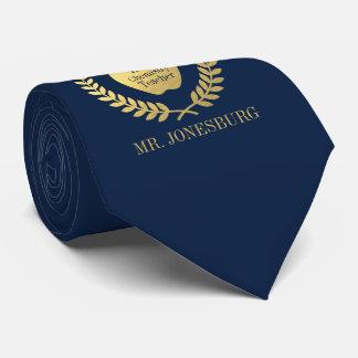 Cravate Or fait sur commande de Faux de marine de