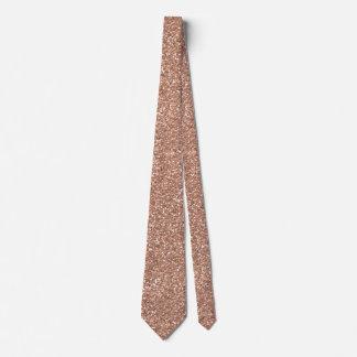 Cravate Or rose