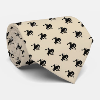 Cravate Orange du motif | de cowboy de rodéo