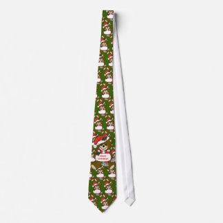 Cravate Ours de nounours de Père Noël avec le casquette et