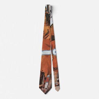 Cravate Pachtuwa-Chta, portrait de guerrier d'Arikara par