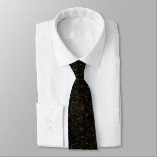 Cravate Paisley scintillant floral et or de coeurs sur le