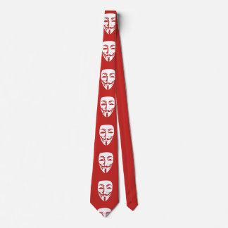 Cravate Partie anonyme de visage de personnaliser