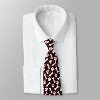 Cravate Partie géniale drôle de pattes et d'os de chien