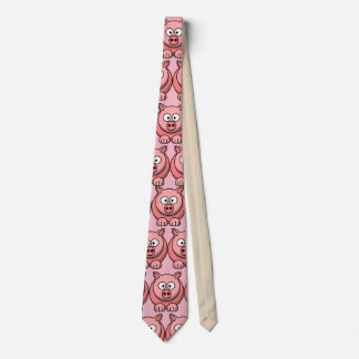 Cravate Partie mignonne de porc de personnaliser