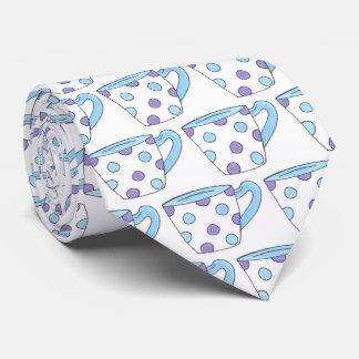 Cravate Partie pourpre bleue de tasse de temps de thé de