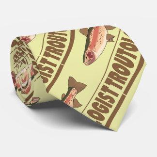 Cravate Pêcheur humoristique de truite | TROUTOLOGIST