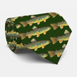 Cravate Peinture de truite de Brown du favori de truite