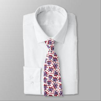 Cravate Petit motif de point rouge de polka de Mlle Bad |