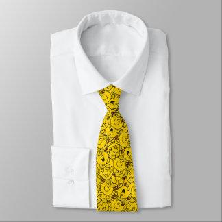Cravate Petit motif de sourires de jaune d'amusement de