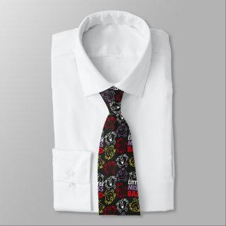 Cravate Petite Mlle Bad | motif noir, de rouge et de jaune