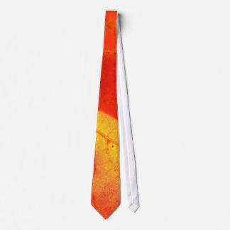 Cravate photographique de feuille d'automne