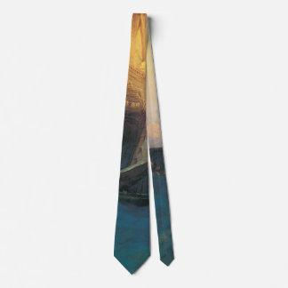 Cravate Pirate vintage, attaque sur un galion par Howard