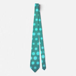 Cravate Points de bleu de lueur d'Aqua