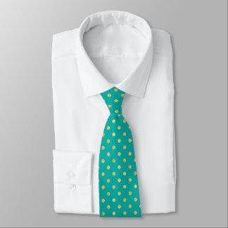 Cravate Pois élégant - menthe et Or