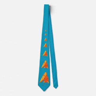 Cravate Poisson rouge illustré lumineux idiot