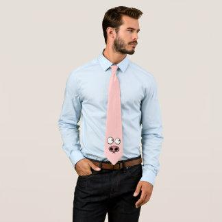 Cravate Porc rose drôle