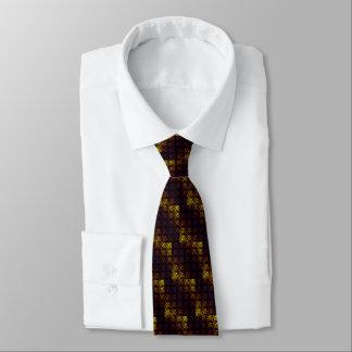 Cravate Pourpre avec l'armure jaune de gaufre