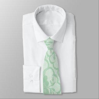 Cravate Pré blanc en pastel en bon état de verdure de