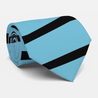 Cravate Rayure de cravate, bleu-clair et noire
