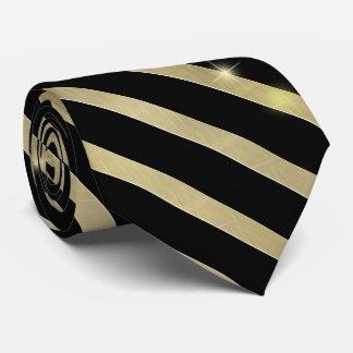 Cravate Rayure de scintillement ID285 d'or