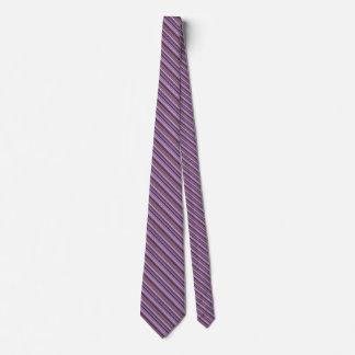 Cravate Rayures diagonales mauve