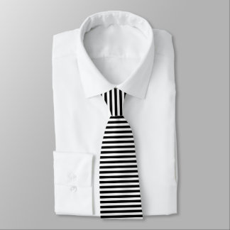 Cravate Rayures noires et blanches