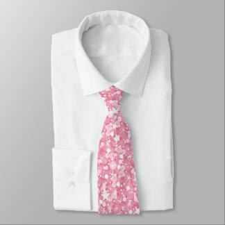 Cravate Rétro scintillement rose