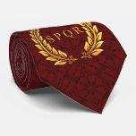 Cravate romaine de laurier de SPQR avec le motif