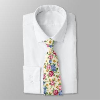 Cravate Rose romantique en pastel de fleur, rouge, nom