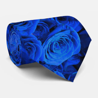 Cravate Roses bleus