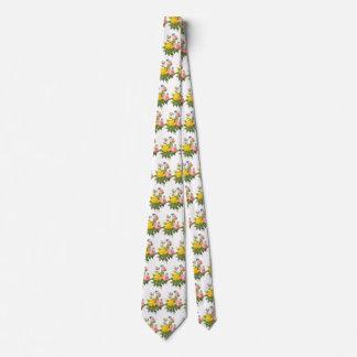 Cravate Roses de thé persans vintages de rose jaune par