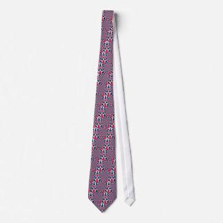 Cravate Rouge élégant de Hakuna Matata et bleu à la mode