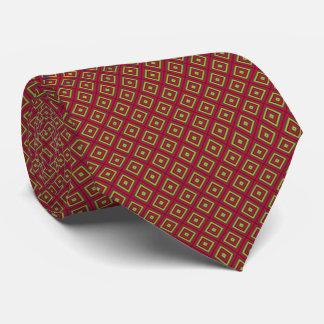 Cravate Rouge et diamant d'or