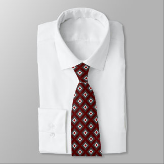 Cravate rouge et gris d'impression de diamant