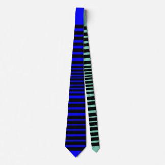 Cravate sauvage de rayure (bleu frais)