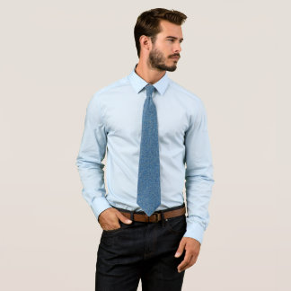 Cravate Scintillement bleu