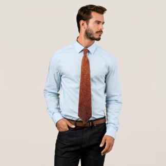 Cravate Scintillement orange