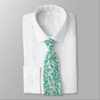 Cravate Scintillement vert et blanc en bon état