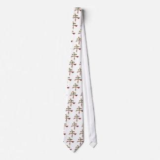 Cravate Sept V2 chanceux - rouge de scintillement