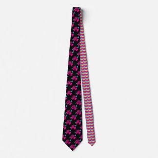 Cravate S'est levée la menthe tirée par la main de rose de