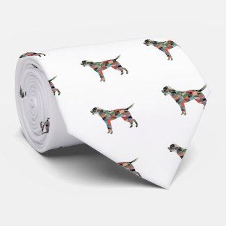 Cravate Silhouette de motif de labrador retriever Geo -