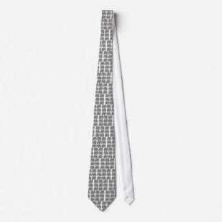 Cravate Silhouette grise d'éléphants