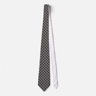 Cravate Silhouettes noires de carlin sur l'arrière - plan