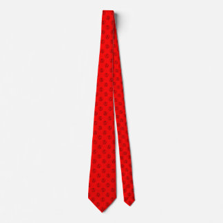 Cravate Symbole athée : noir sur le rouge