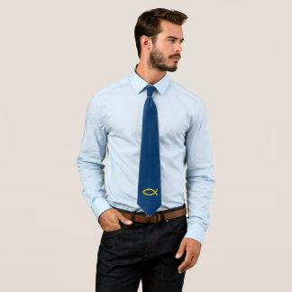 Cravate Symbole chrétien de poissons d'or