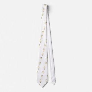 Cravate Symbole égyptien croisé d'Ankh