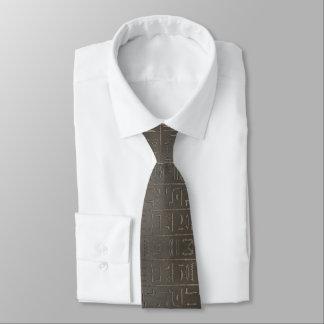 Cravate Symboles égyptiens d'écriture d'Egypte antique